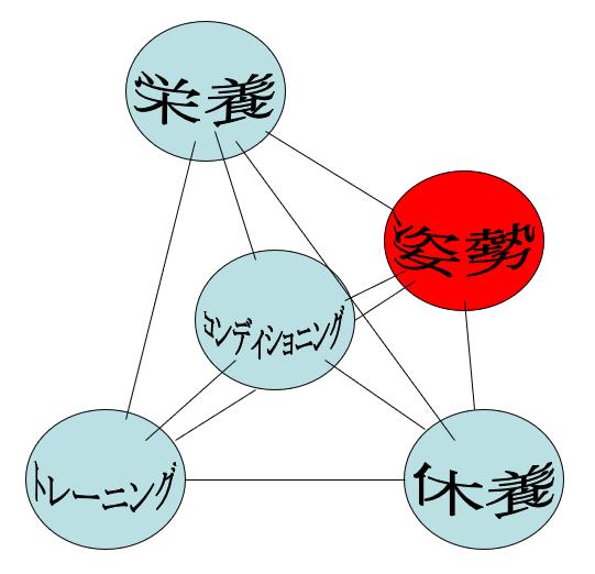 コンディショニングと四大要素との関係(一)