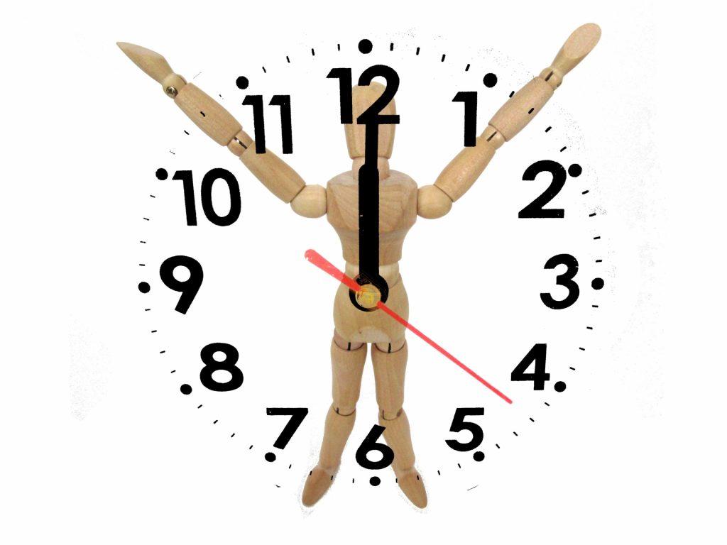 ①体内時計と自律神経の関係