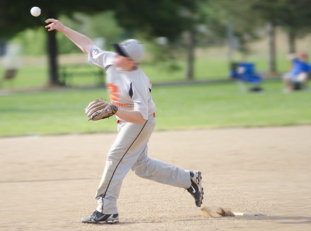③競技内のスピードを分析する 例 投球動作